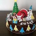 leżący mikołaj #wesołych #świąt #tort #okolicznościowy #mikołaj #bałwanek