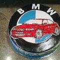 Bmw 525 dla Adama #bmw #auto #tort z #samochodem #logo #torty #okazjonalne