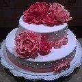 Tort z Peoniami na wesele 8-10 kg #tort #weslny #torty #weselne #peonie #torty #okazjonalne #tort