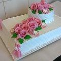 Torcik weselny #tort #weselny #tort #okolicznościowy #tort na #specjalne #okazje #weselny #róże