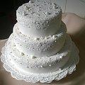Tor weselny z perełkami #tort #weselny #tort #okolicznościowy #tort na #specjane #okazje #perełki #tort