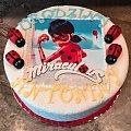 Tort dla Antosi #Miraculus #tort z #biedronką #tort #dla #dzieci #tort na #urodziny