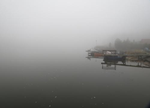 Taka była mgła dziś rano, że drugiego brzegu Odry nie było widać...