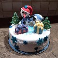 Bałwanek na święta #bałwanek #tort z #bałwankiem #tort #okazjonalny #tort na #święta #mikołaj #torty