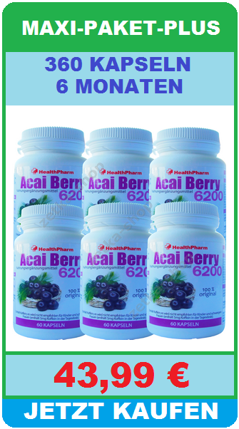 60 kapseln brazilian acai berry 21000 mg gr ne tee. Black Bedroom Furniture Sets. Home Design Ideas